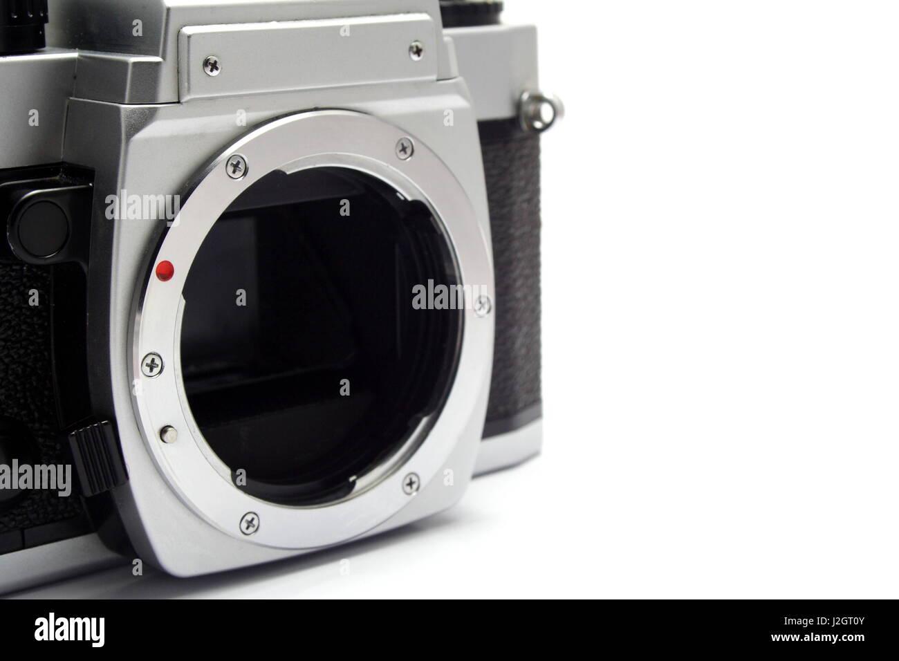 Manual Film Camera Front Lens Mount - Stock Image