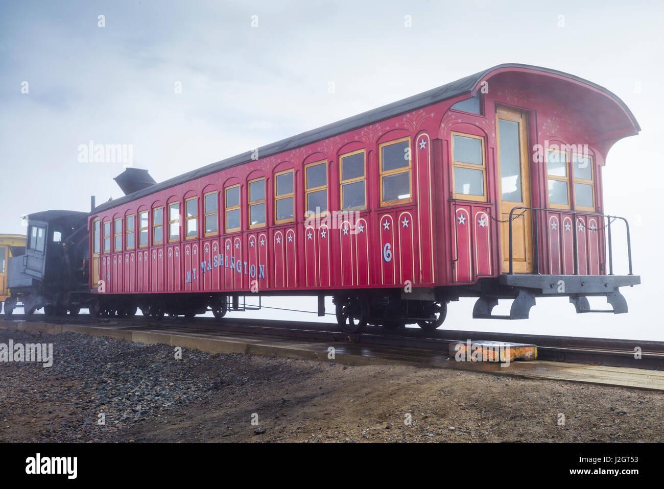 USA, New Hampshire, White Mountains, Bretton Woods, Mount Washington Cog Railway Stock Photo