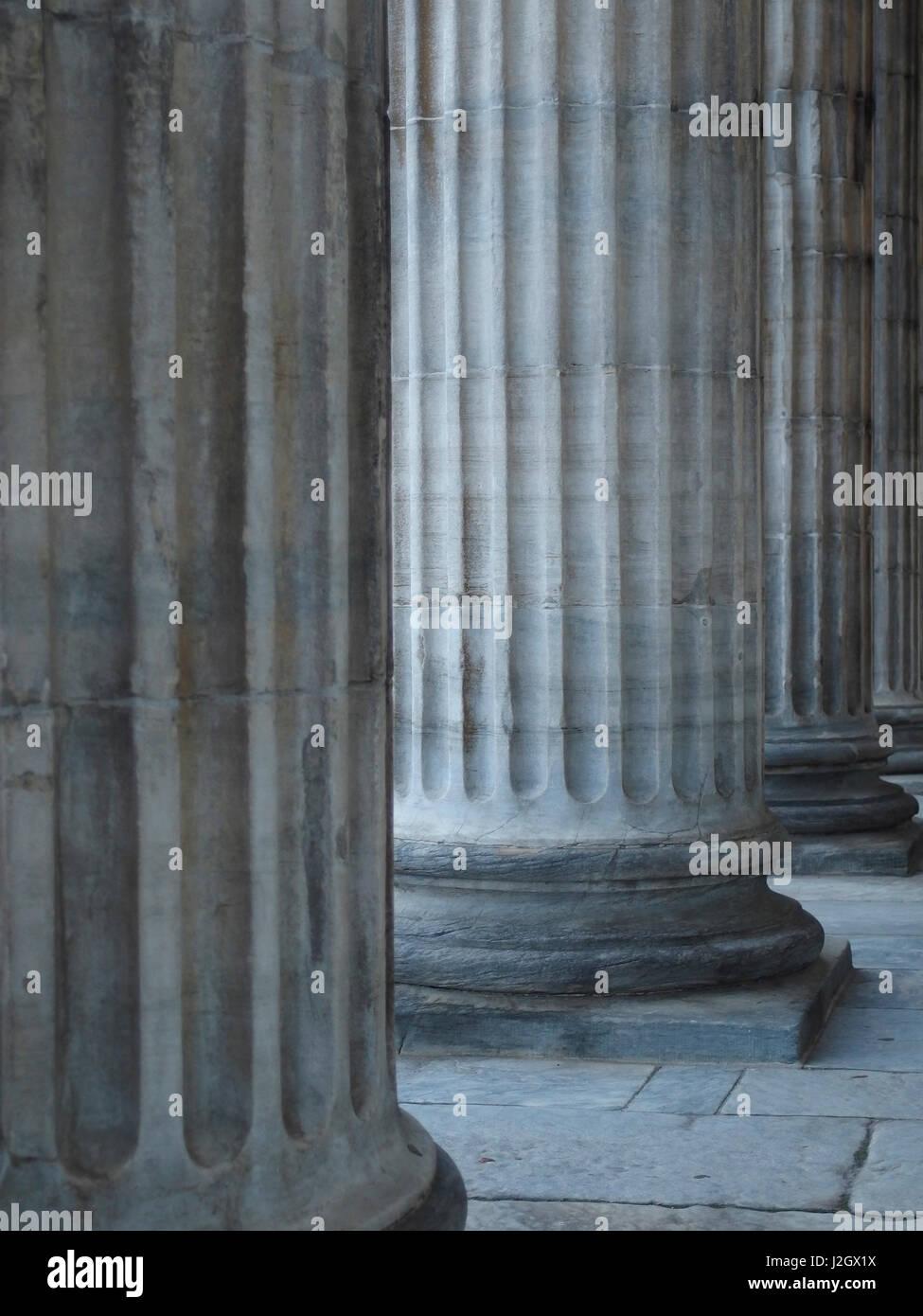 Column of Merchants Exchange Building in Philadelphia, Pennsylvania, United States. - Stock Image