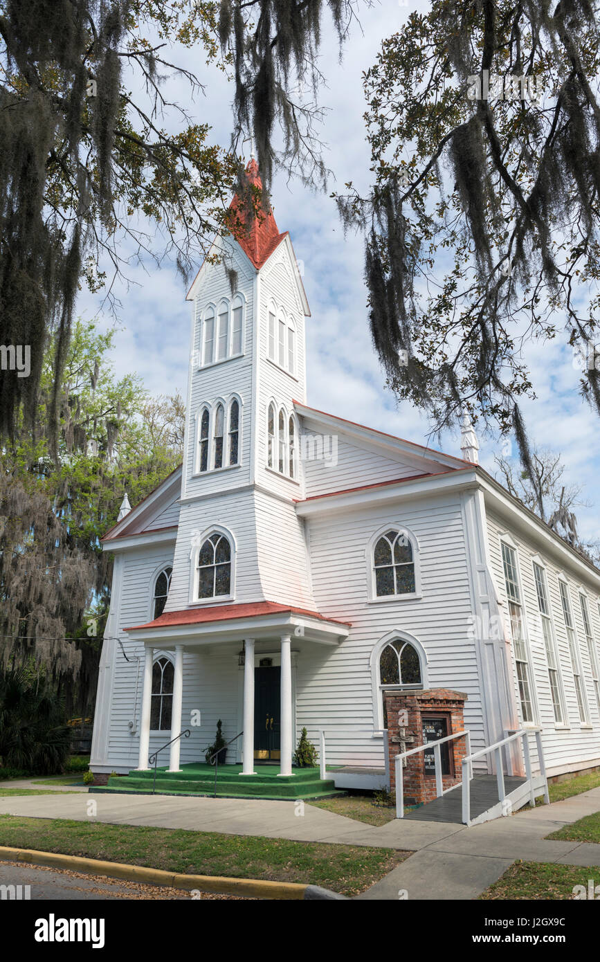 USA, South Carolina, Beaufort, Tabernacle Baptist Church (Large format sizes available) - Stock Image