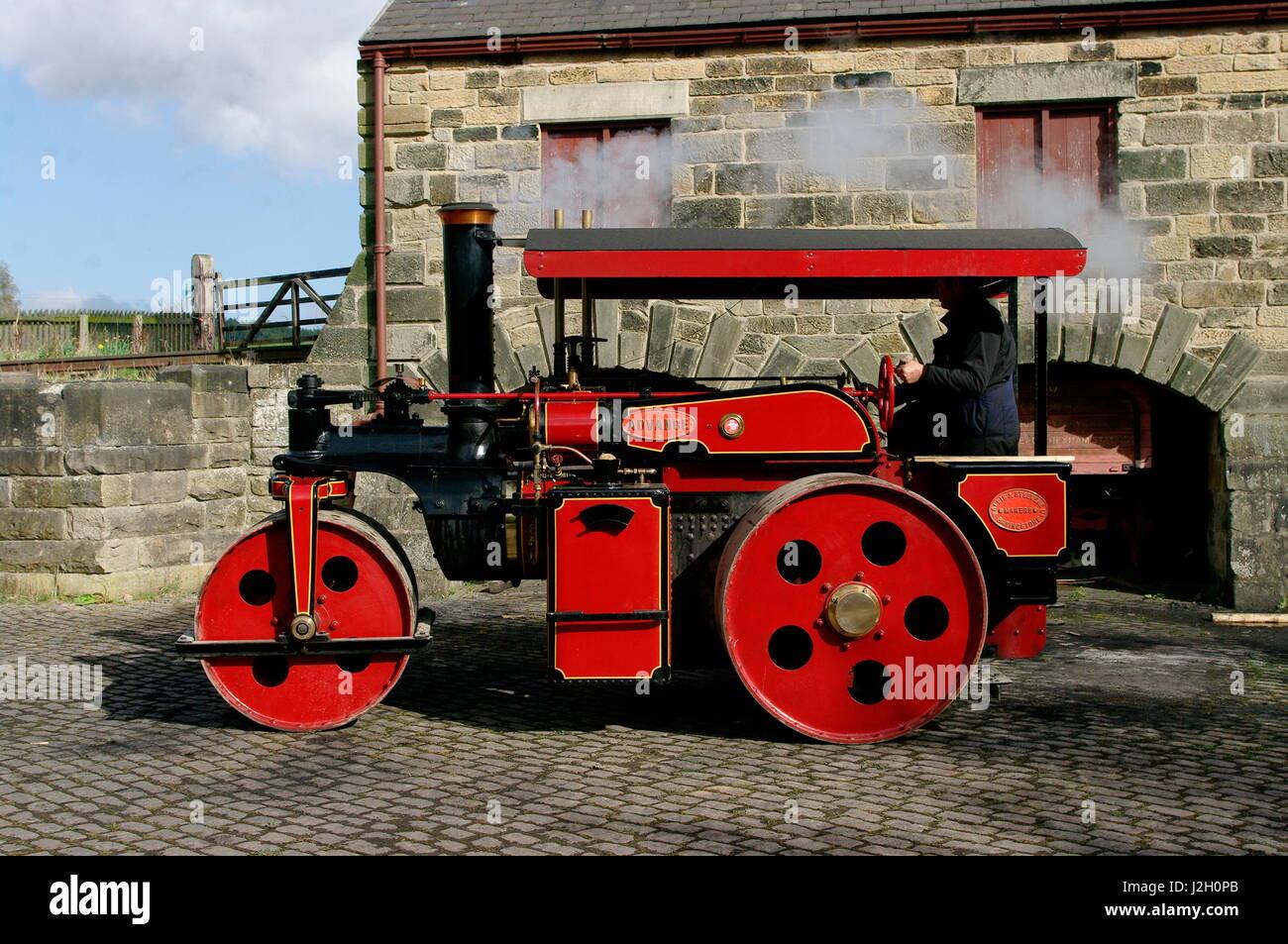 Wallis Advance Steam Roller - Stock Image