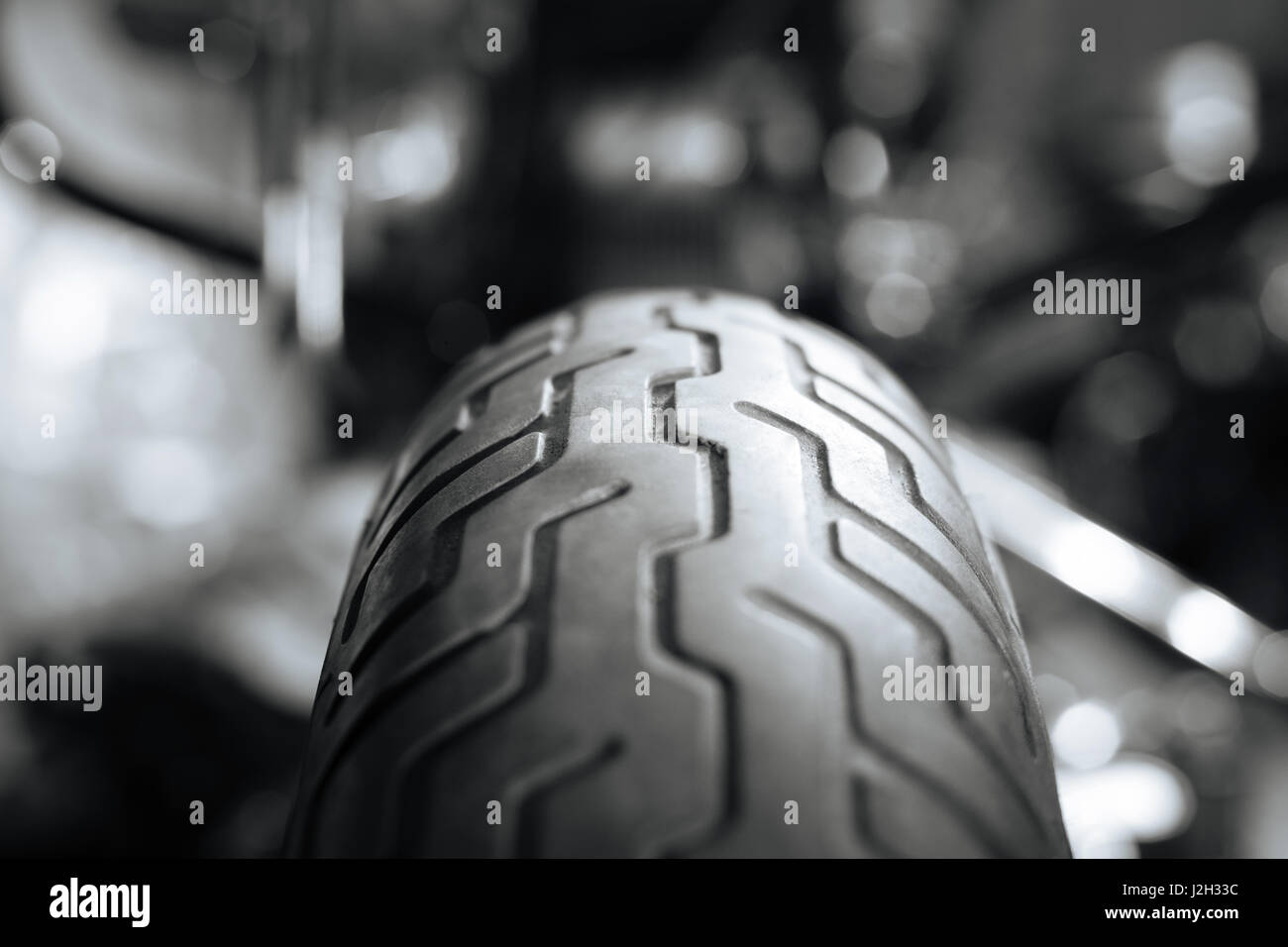 Picture of a tires tricky pattern - Stock Image