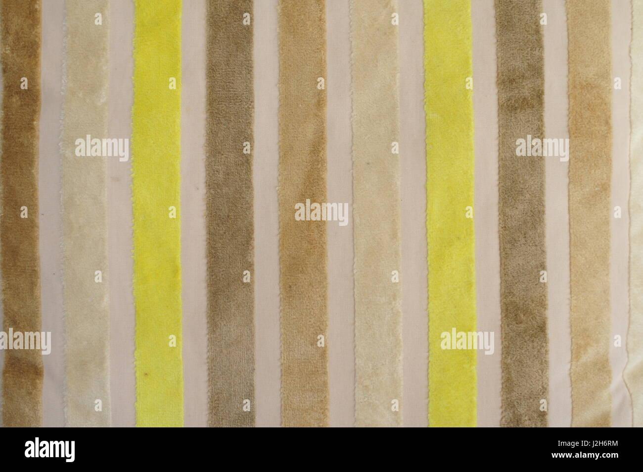 colored velvet stripes - Stock Image