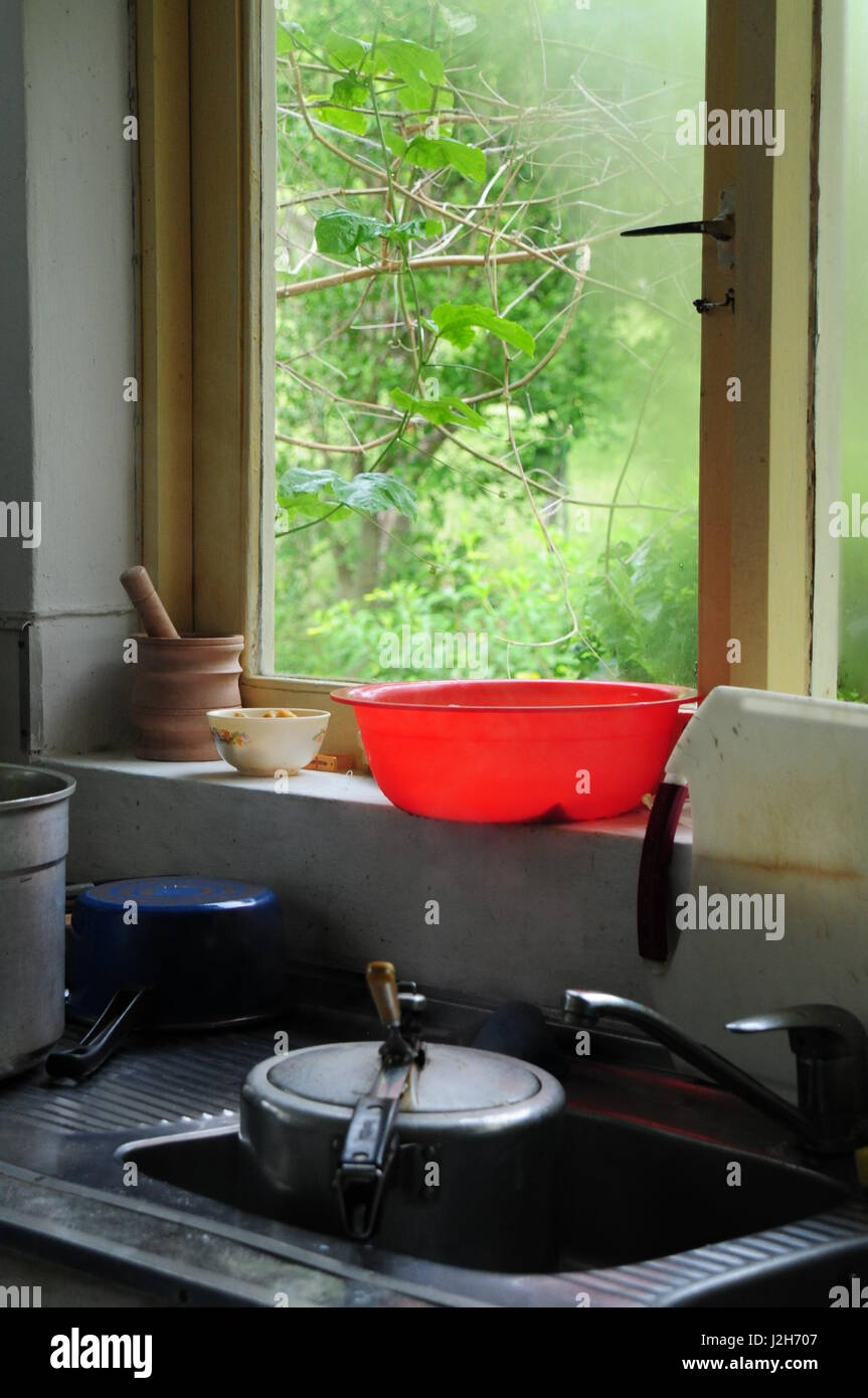 typical kitchen scene - Stock Image