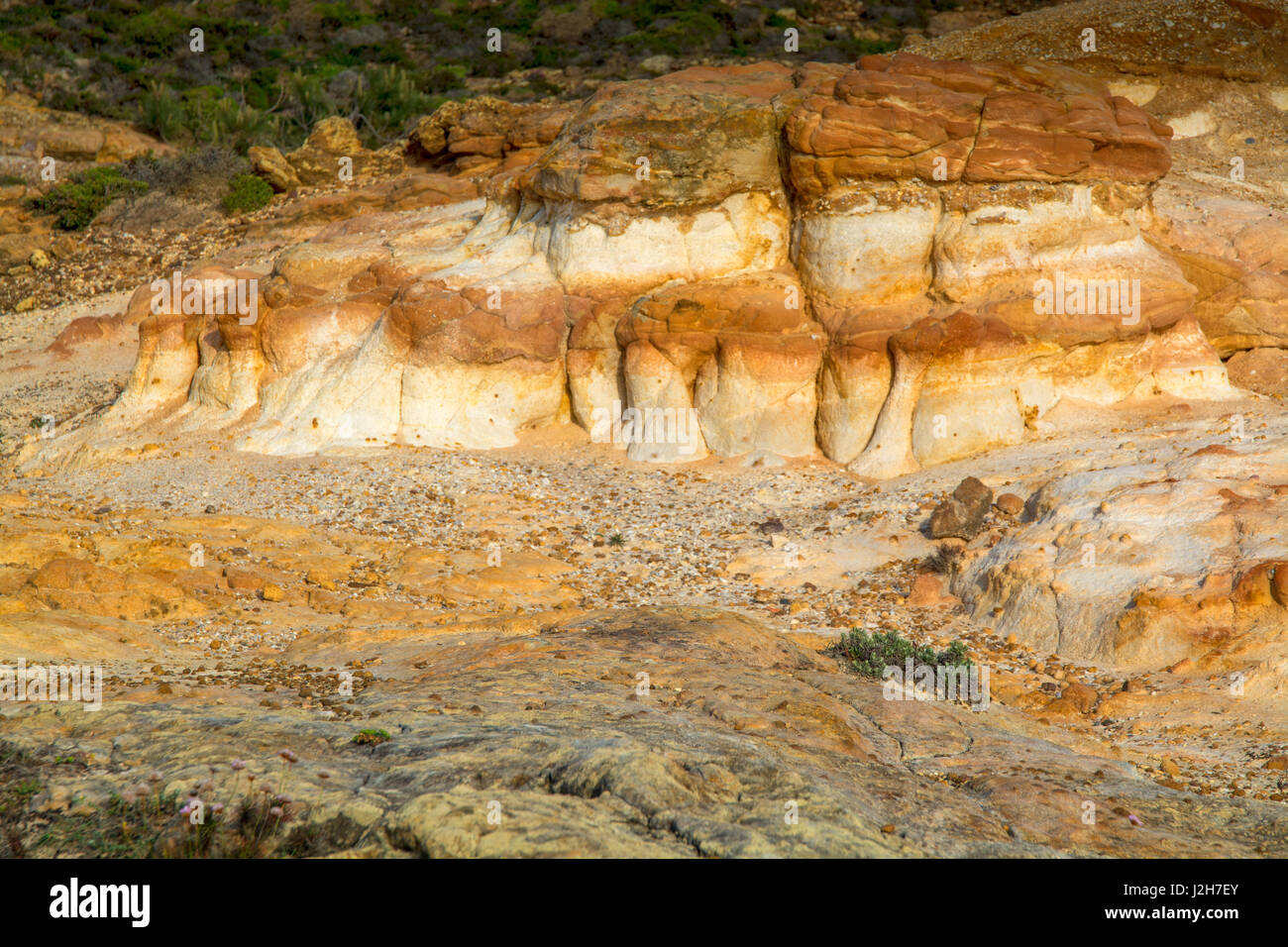 small rock formation in brown tones - Stock Image