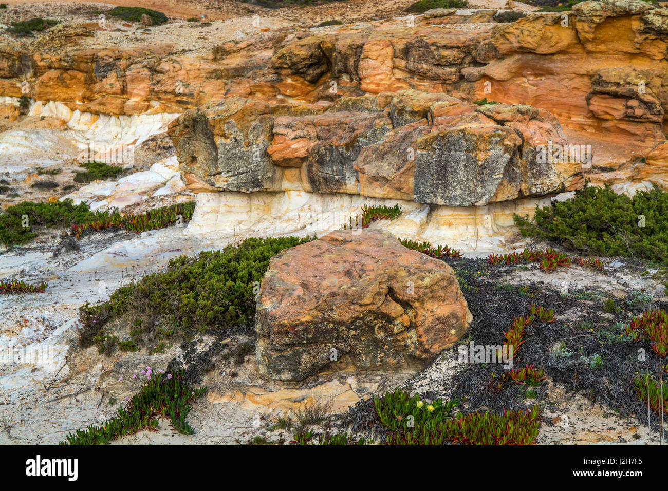 small rock formation in brown tones Stock Photo