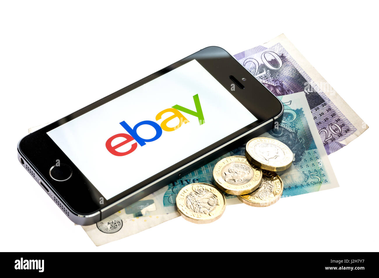 Making money on ebay - Stock Image