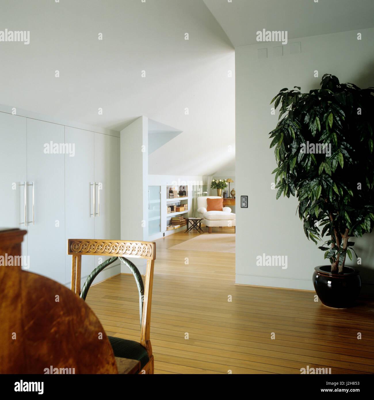 Open plan modern hallway. Stock Photo