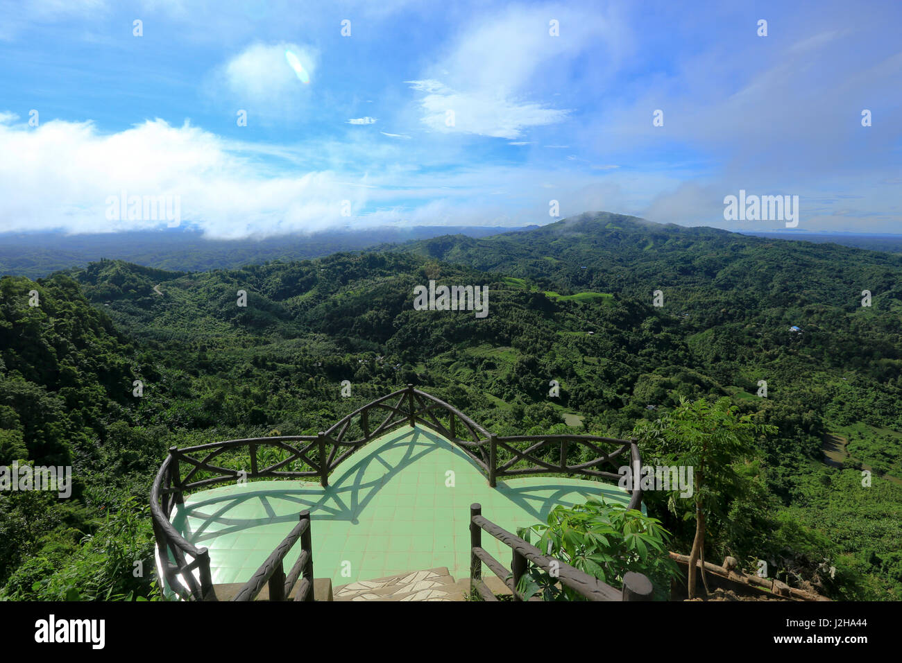 A scenic beauty of Bandarban hill district from Nilachal