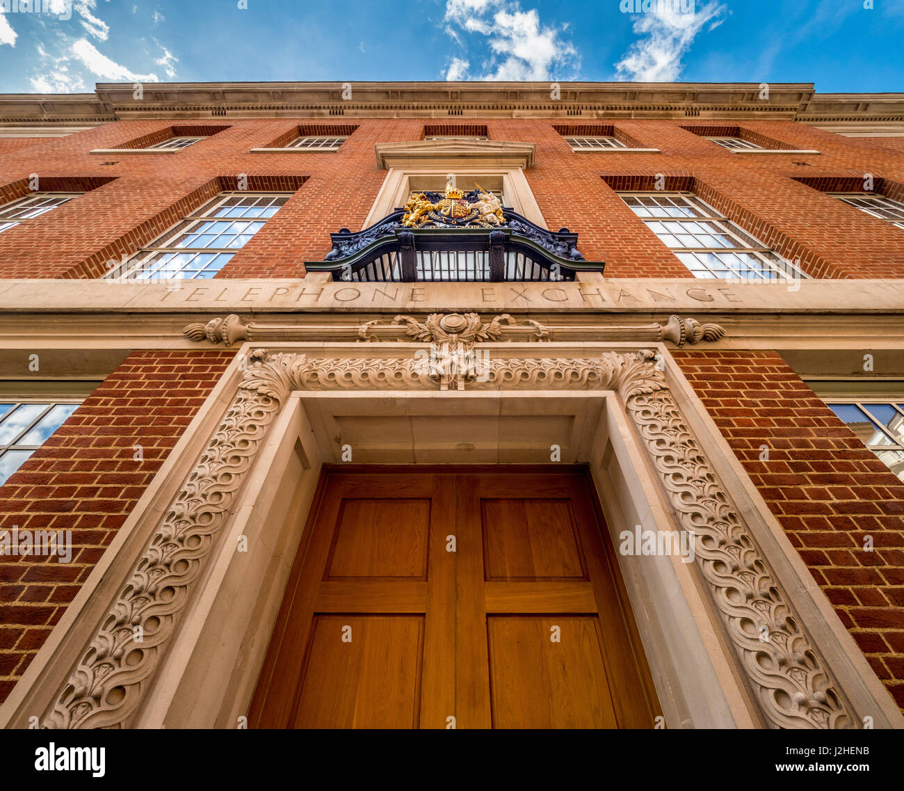 Grade II Listed former telephone exchange building, Sloane Square, London, UK. - Stock Image