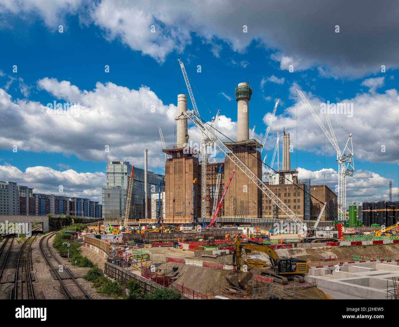 Redevelopment of Battersea Power Station and surrounding area into offices/residential use, London, UK. - Stock Image