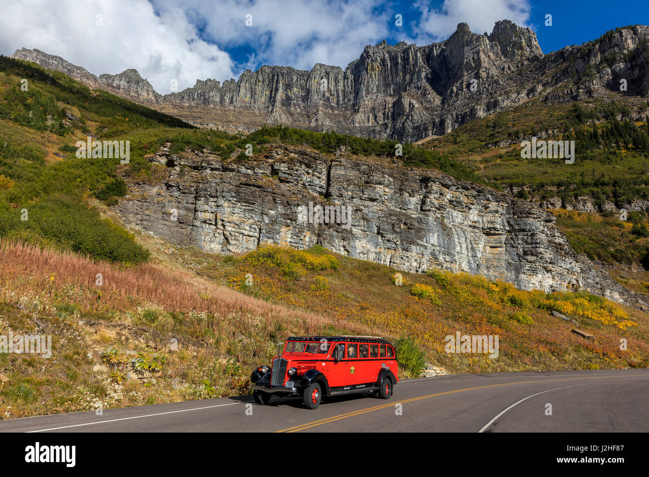 Red Jammer Bus Stock Photos & Red Jammer Bus Stock Images - Alamy