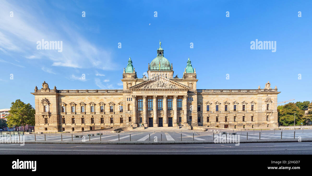 Panoramic view of Building of Federal Administrative Court of Germany (Bundesverwaltungsgericht) in Leipzig, Saxony, - Stock Image