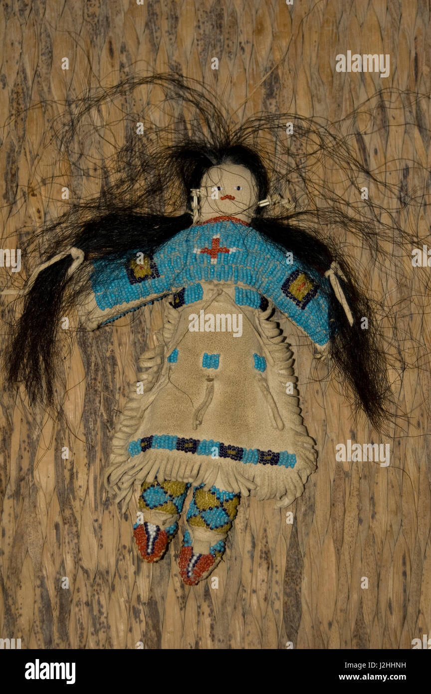 Mandan Childs Toy Doll Made From Stuffed Animal Hide And Horsehair