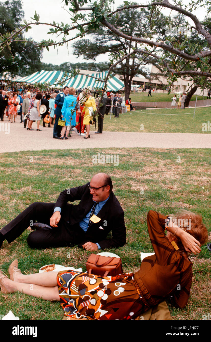 Nicholas Katzenbach at the opening of the LBJ Library on May 22,1971, Austin, Texas Stock Photo