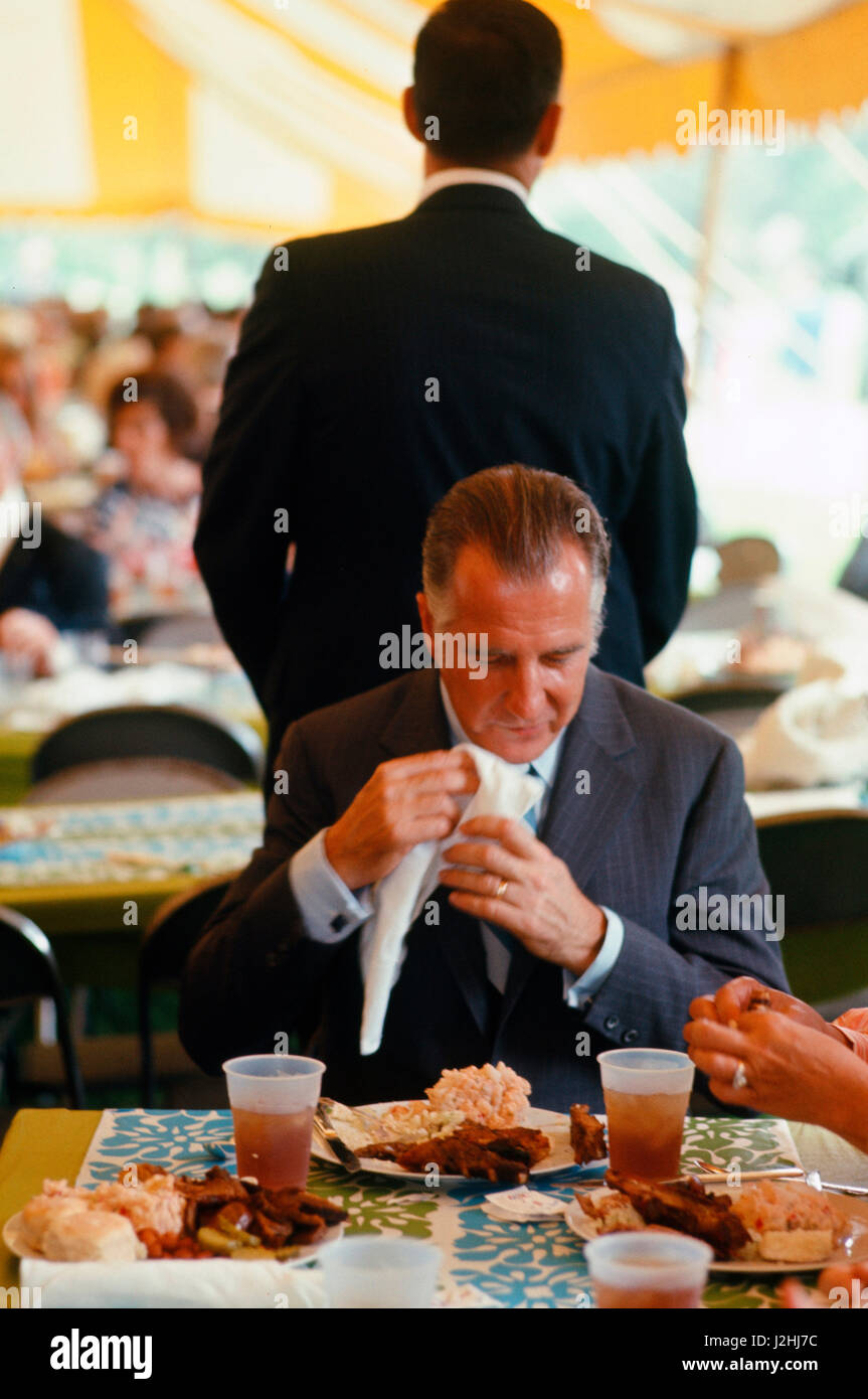 Vice President Spiro Agnew at the opening of the LBJ Library on May 22,1971, Austin, Texas - Stock Image