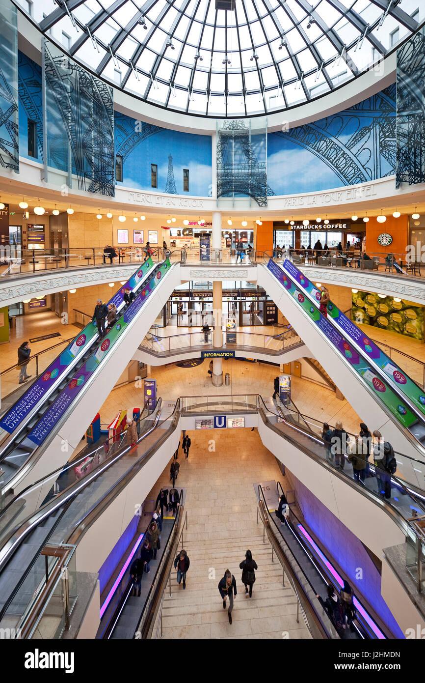 Shopping center Limbecker Platz, Essen, Ruhr region, North Rhine-Westphalia, Germany - Stock Image