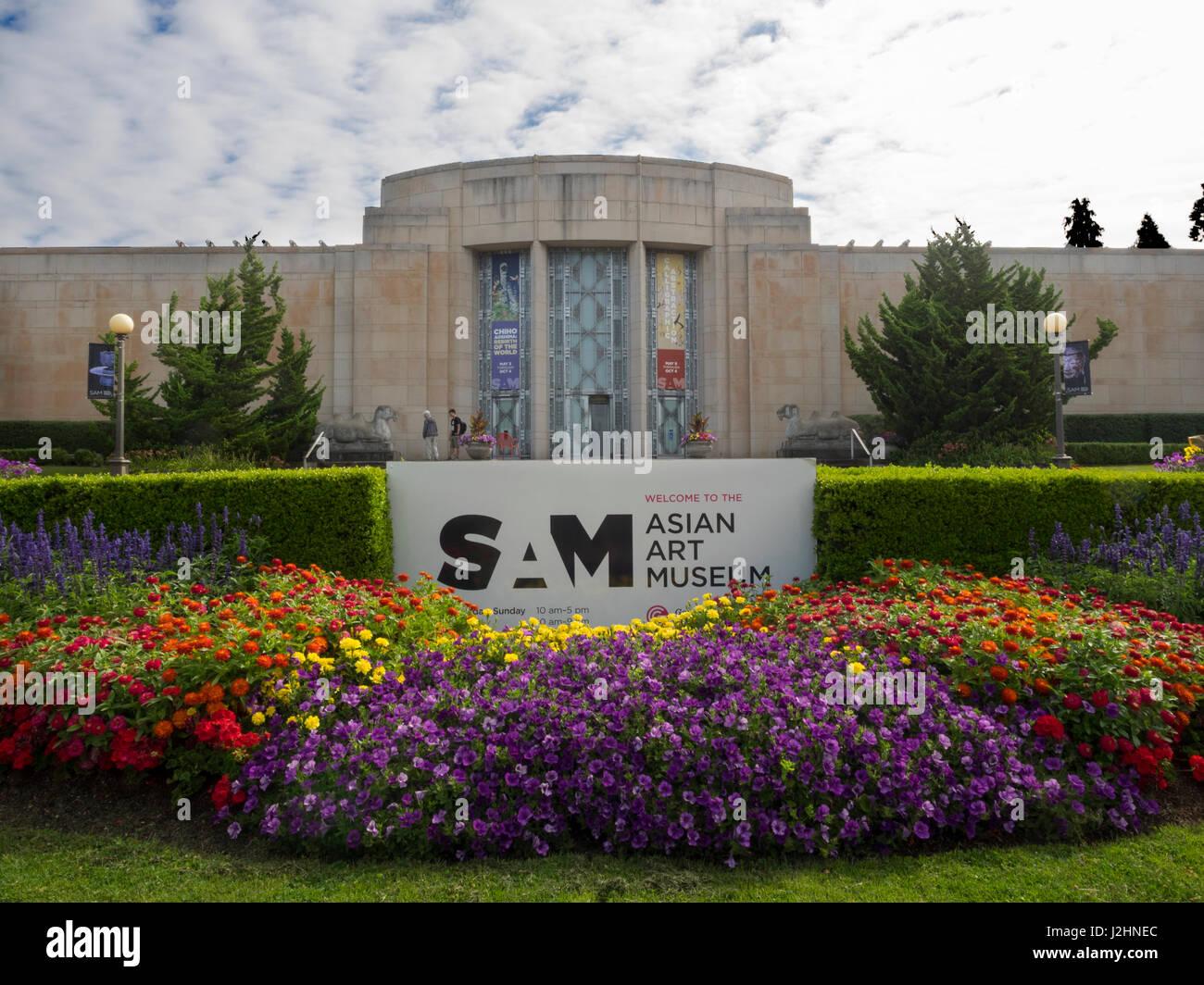 WA, Seattle, Volunteer Park, Asian Art Museum - Stock Image