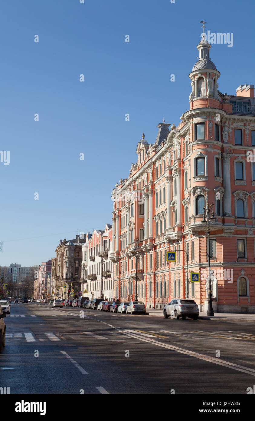 Profitable house of K. A. Schreiber, Potemkinskaya street, St. Petersburg, Russia. - Stock Image