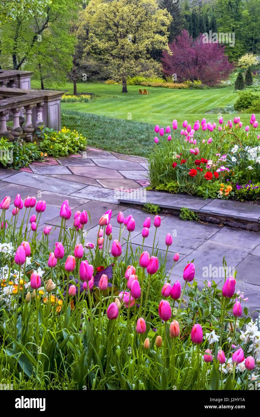 Usa Pennsylvania Wayne Chanticleer Garden Landscape Of