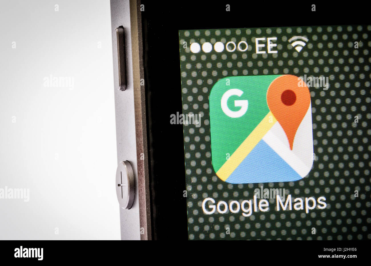 Google Maps App on an iPhone - Stock Image