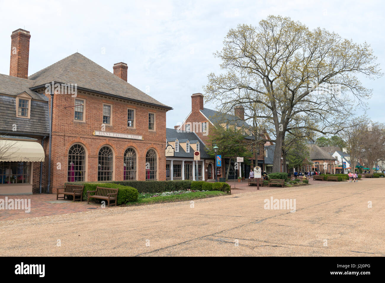 USA, Virginia, Williamsburg, Merchants Square (Large format sizes available) - Stock Image