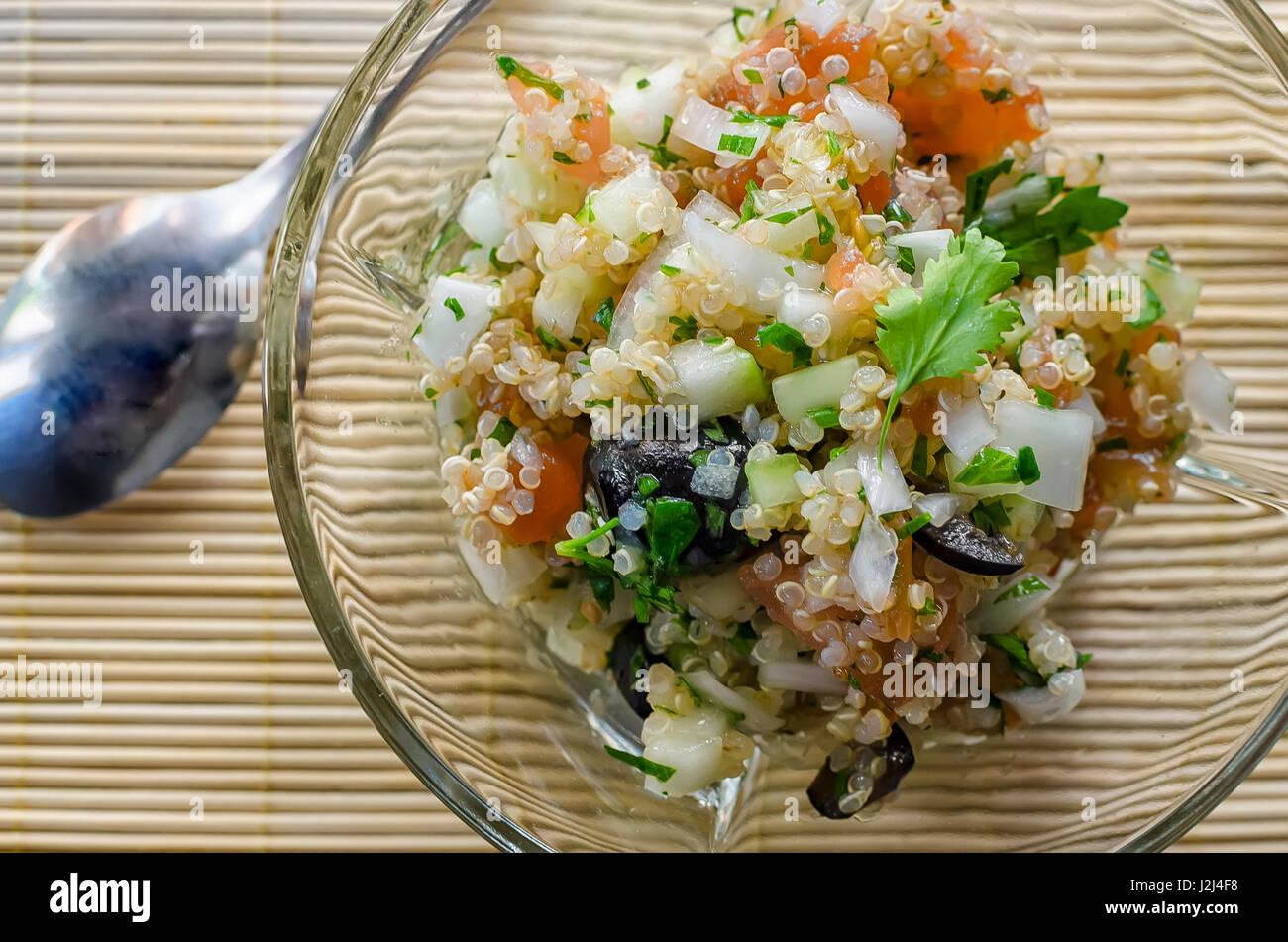 quinoa salad - Stock Image
