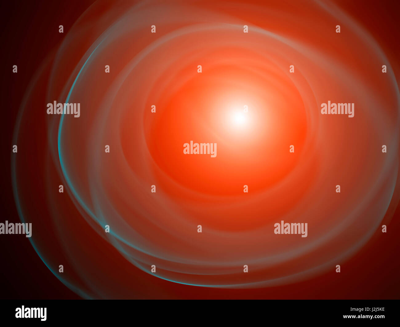 Bright red abstract shapes, illustration. - Stock Image