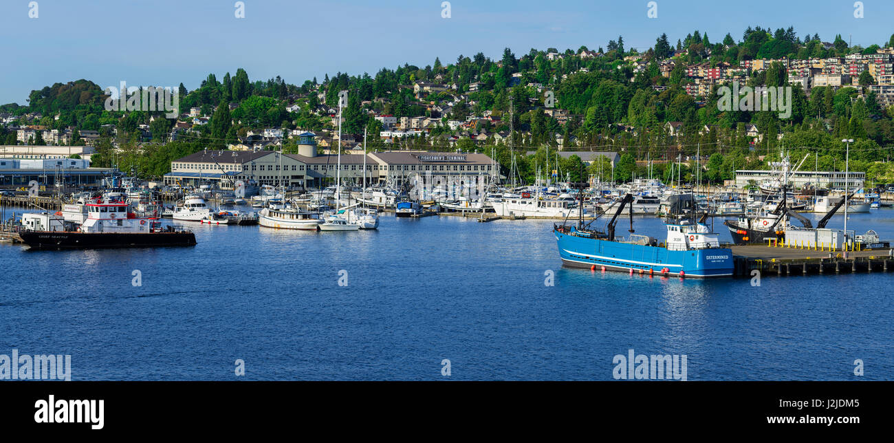 USA, Washington State, Seattle  Fishermen's Terminal is historic