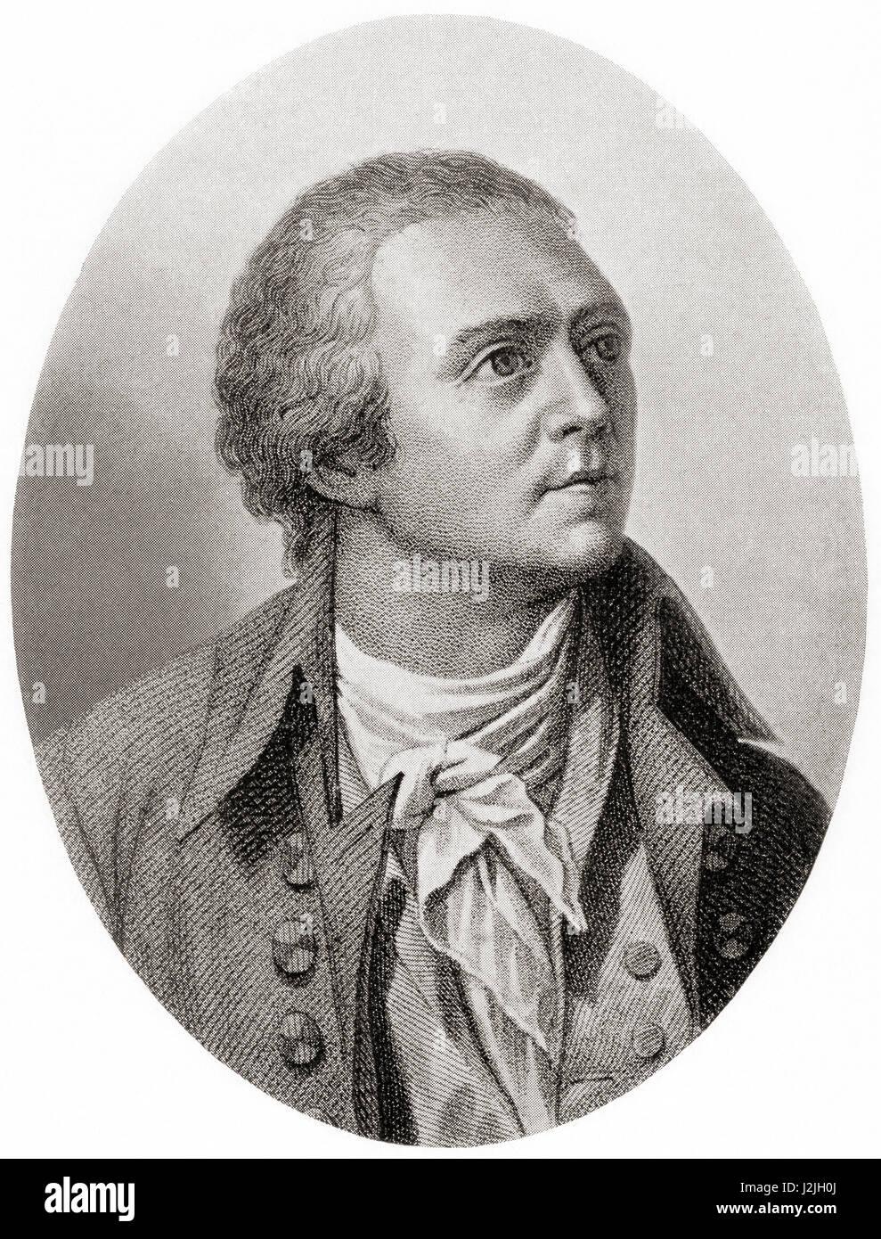 Horace-Bénédict de Saussure, 1740 – 1799.  Genevan and savoyan geologist, meteorologist, physicist, mountaineer - Stock Image
