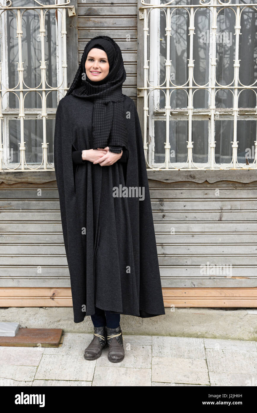 beautiful young muslim woman - Stock Image
