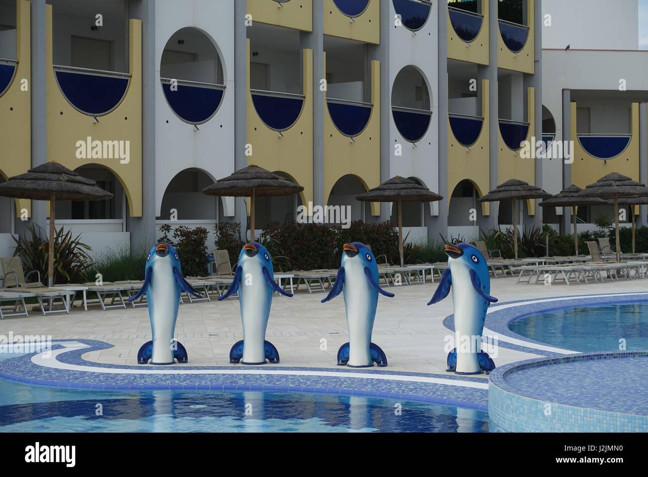 Italien, Bibione; Hotelanlage - Italy, Bibione, Hotel Resort - Stock Image