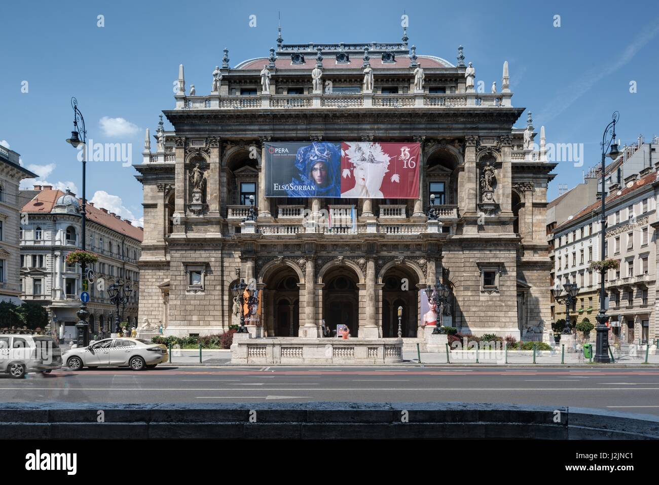Budapest, Oper, Magyar Állami Operaház - Budapest, Opera, Magyar Állami Operaház - Stock Image