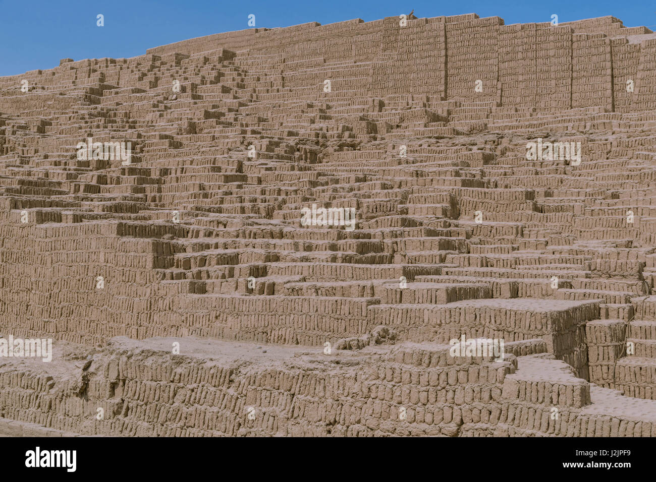 the adobe and clay pyramid of huaca pucllana in the miraflores