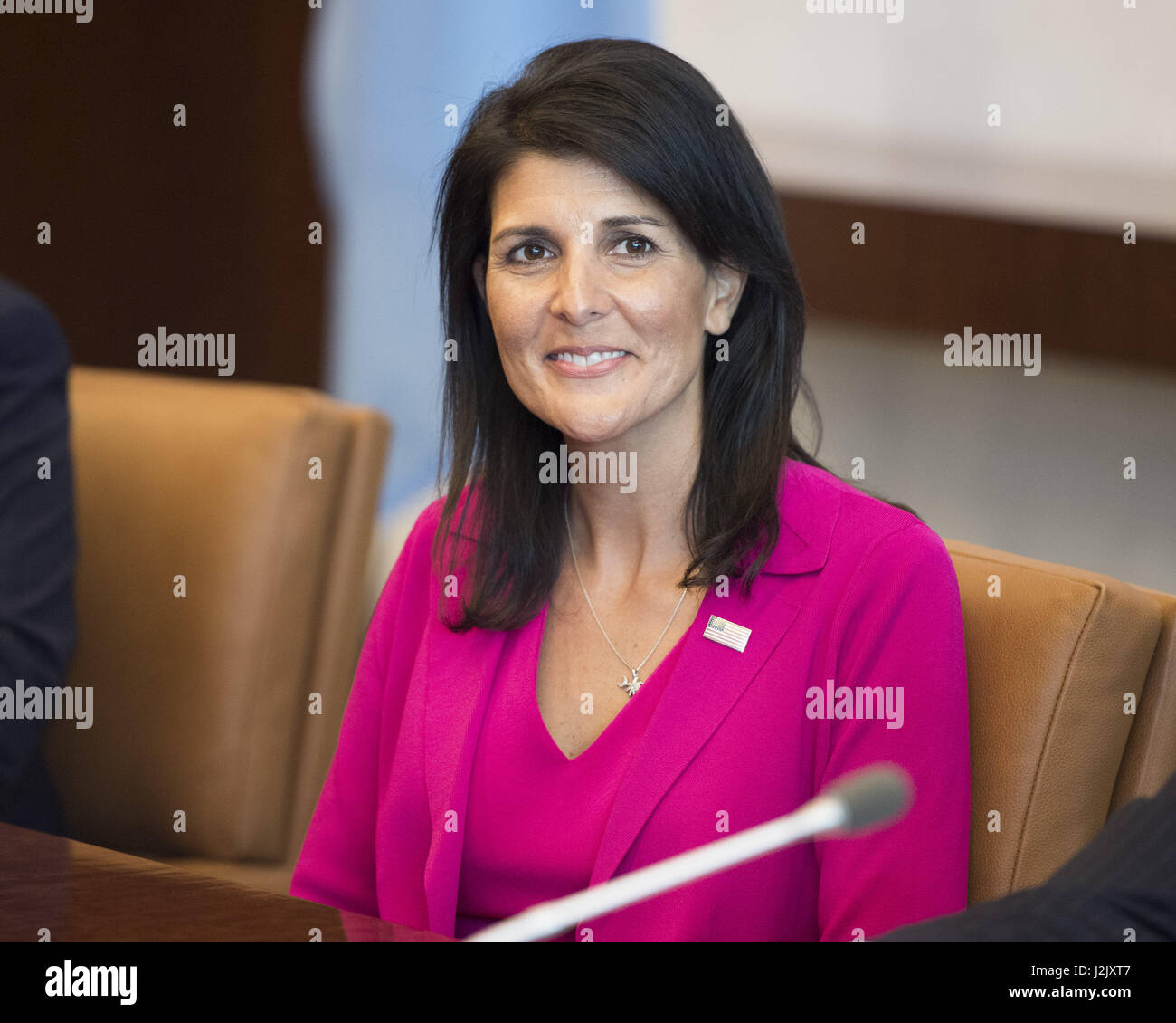 New York, NY, USA. 28th Apr, 2017. NIKKI HALEY, US Ambassador the to the UN, at the United Nations Credit: Michael - Stock Image