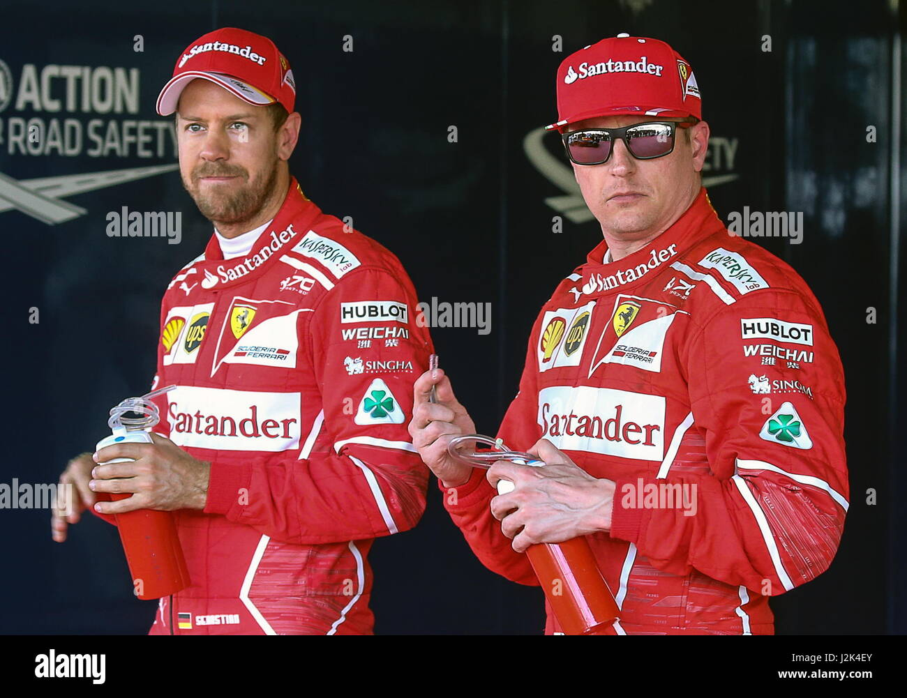 Sochi, Russia. 29th Apr, 2017. Scuderia Ferrari F1 drivers Sebastian