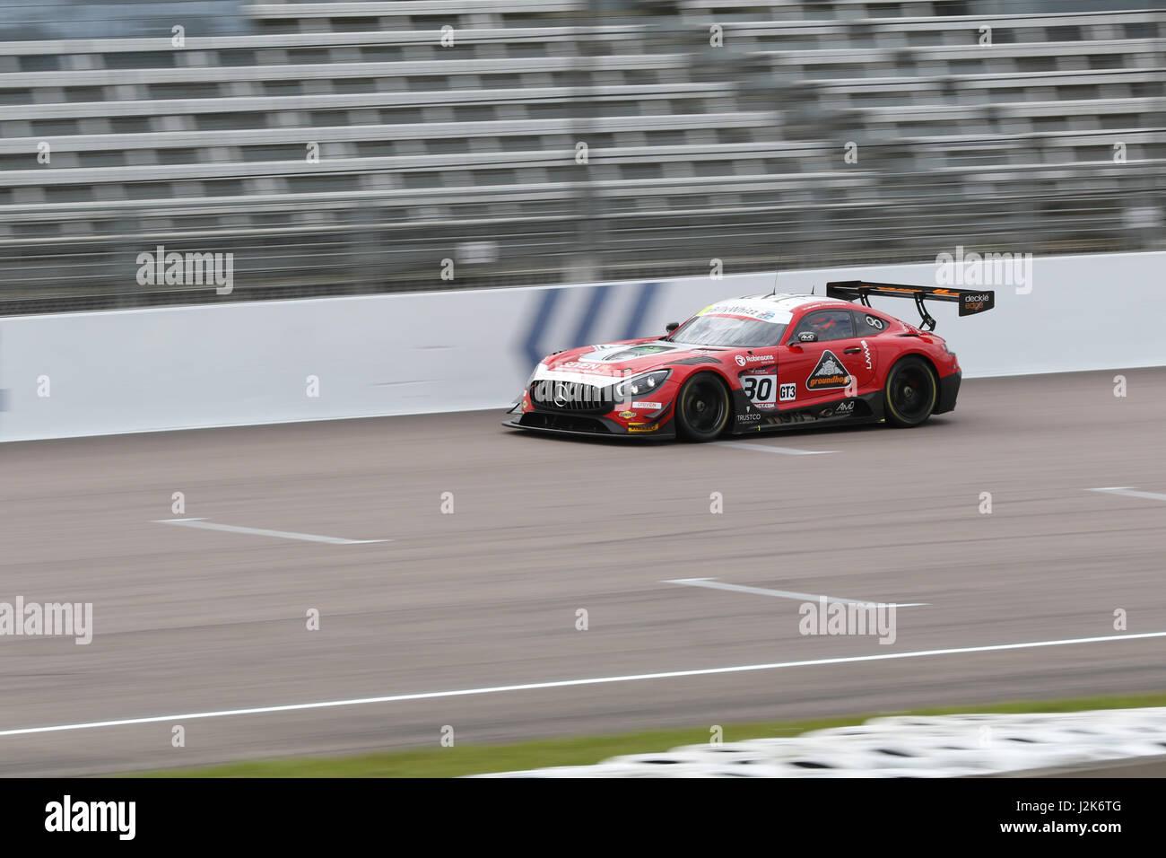 Rockingham, United Kingdom. 29th Apr, 2017. AMD Tuning during qualifying for the British GT at Rockingham Motor Speedway Credit: Paren Raval/Alamy Live News