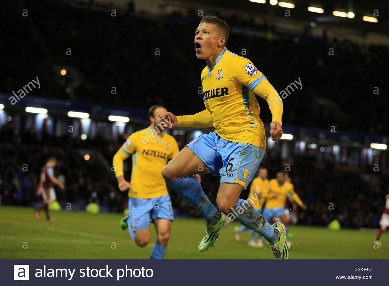 File photo dated 17-01-2015 of Crystal Palace's Dwight Gayle celebrates scoring his sides third goal of the - Stock Image