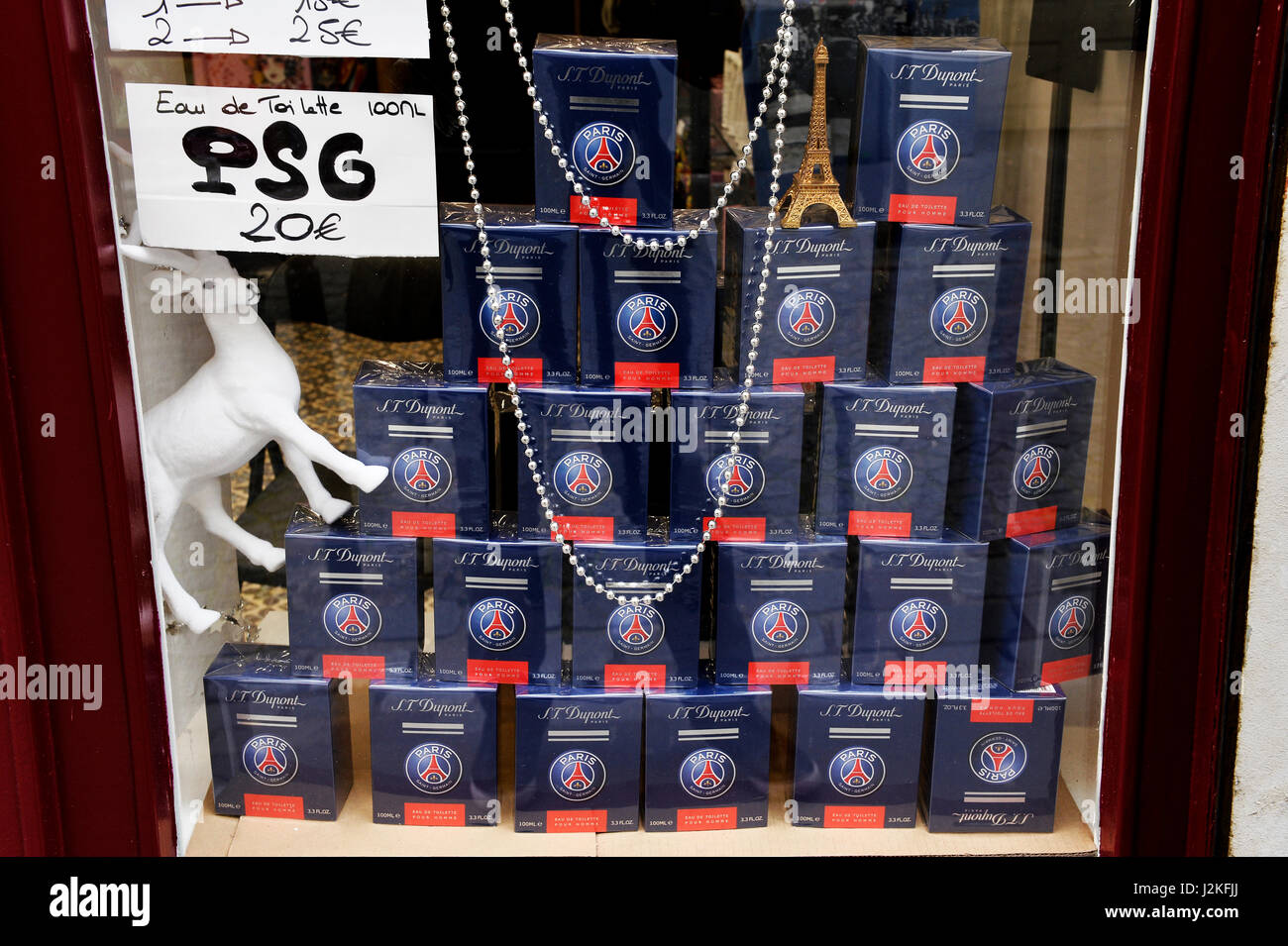 Spin-off product of PSG Football Team, Paris, France - Stock Image