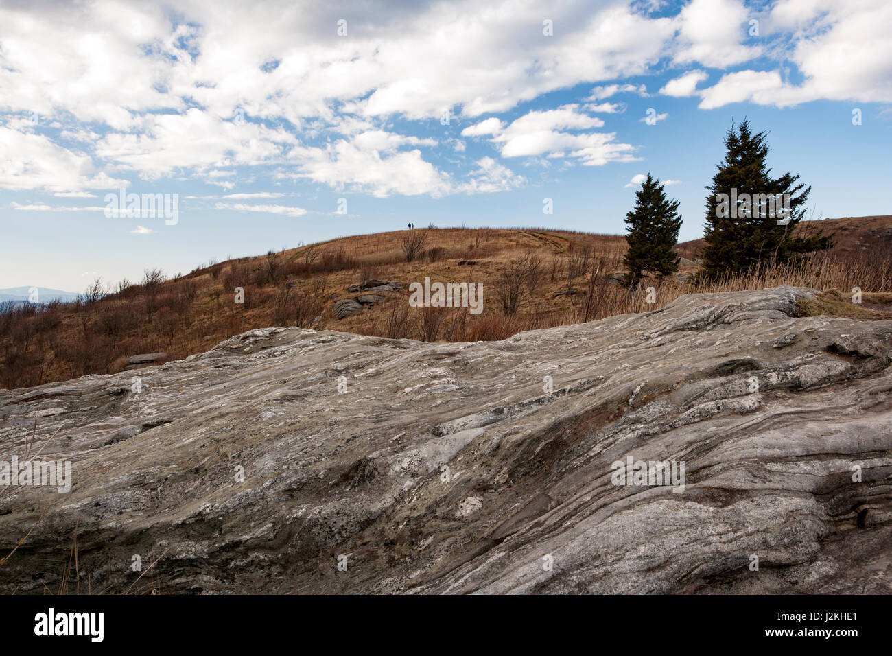 Views from Art Loeb Trail near Black Balsam Knob - Blue Ridge Parkway, North Carolina, USA Stock Photo