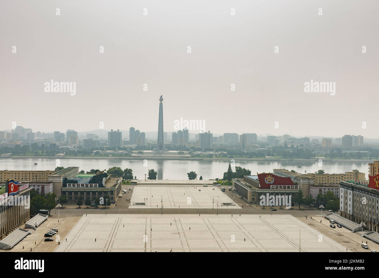 Tower of the Juche Idea - Stock Image