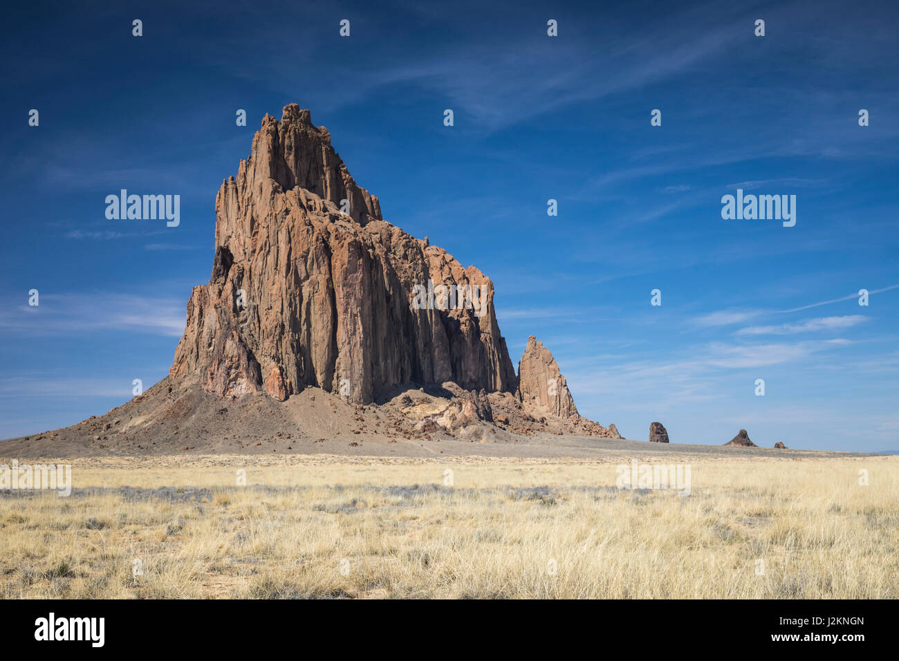 Shiprock formation, Shiprock, New Mexico. - Stock Image