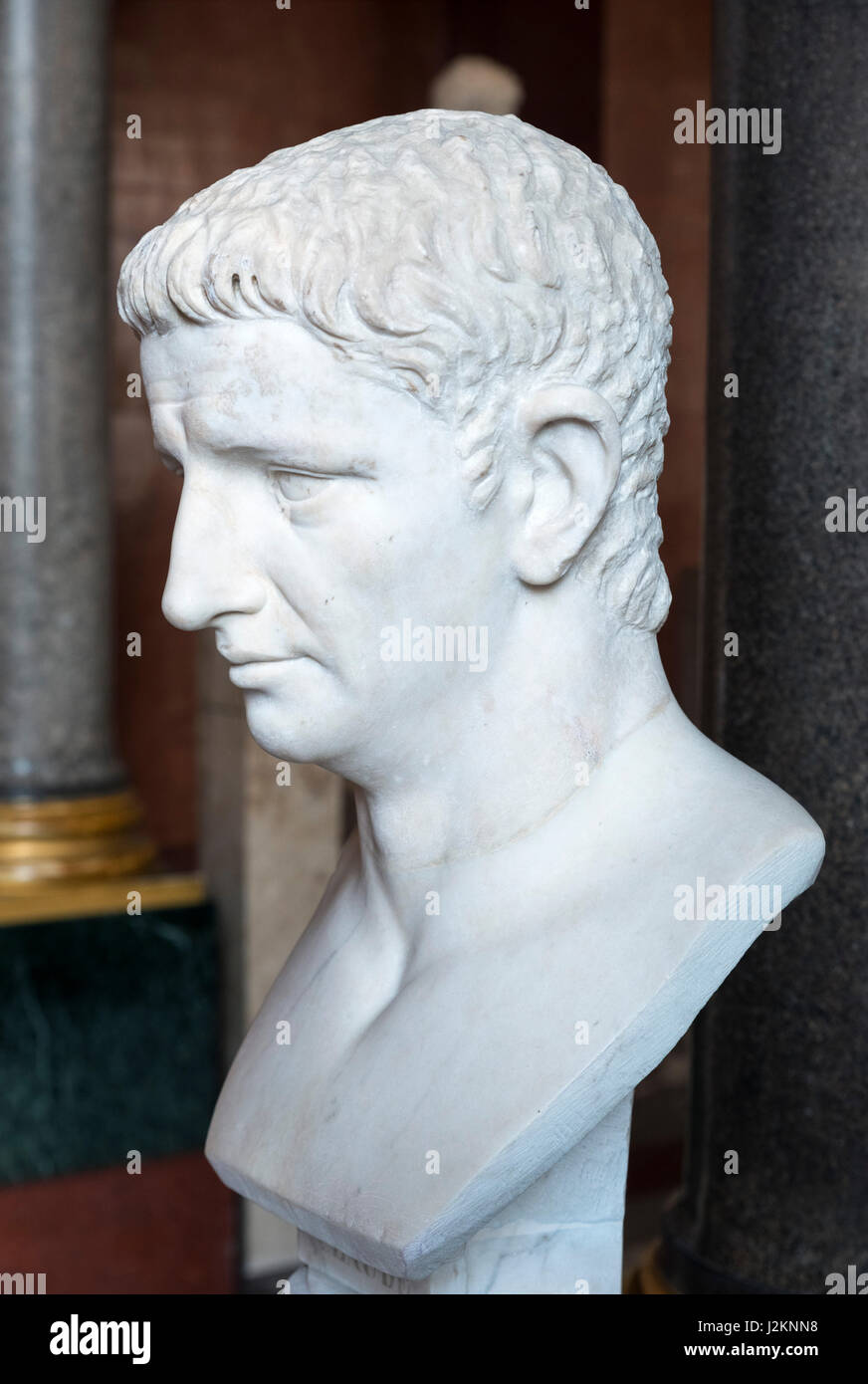 Claudius. Marble bust of the Emperor Claudius (10 BC – 54 AD), fourth Emperor of the Roman Empire. - Stock Image
