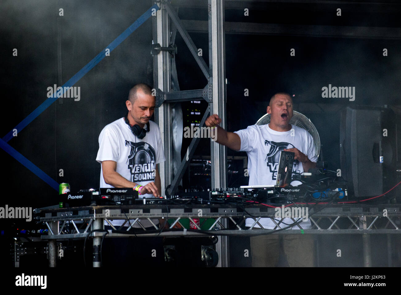 Robin Hill Country Park, Isle of Wight, United Kingdom. 9 September 2016. Venum Sound Snake at Bestival Music Festival - Stock Image