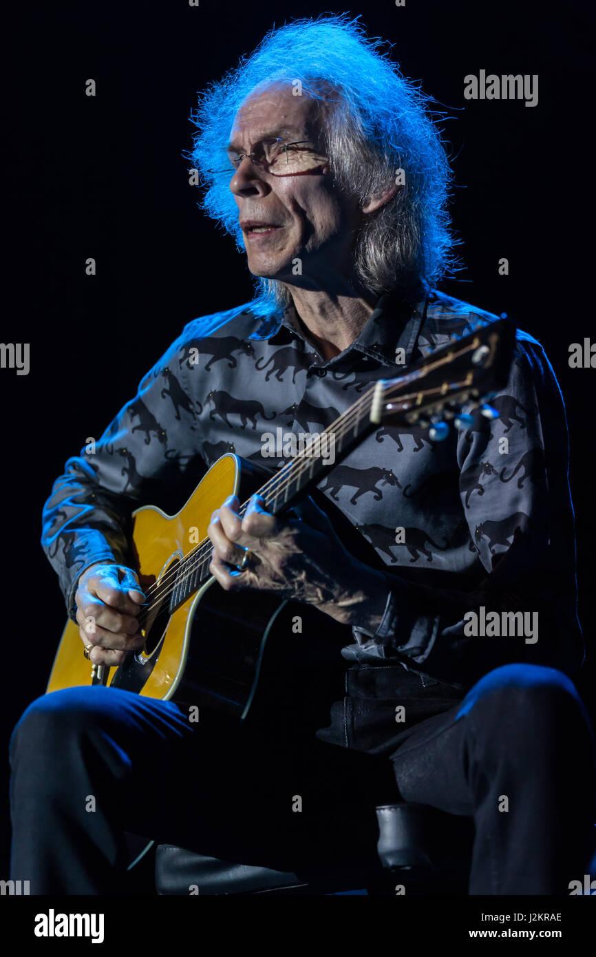 Steve Howe, guitarist of the progressive rock band Yes at Bluesfest Byron Bay, April 9, 2012. Howe put on an impressive - Stock Image
