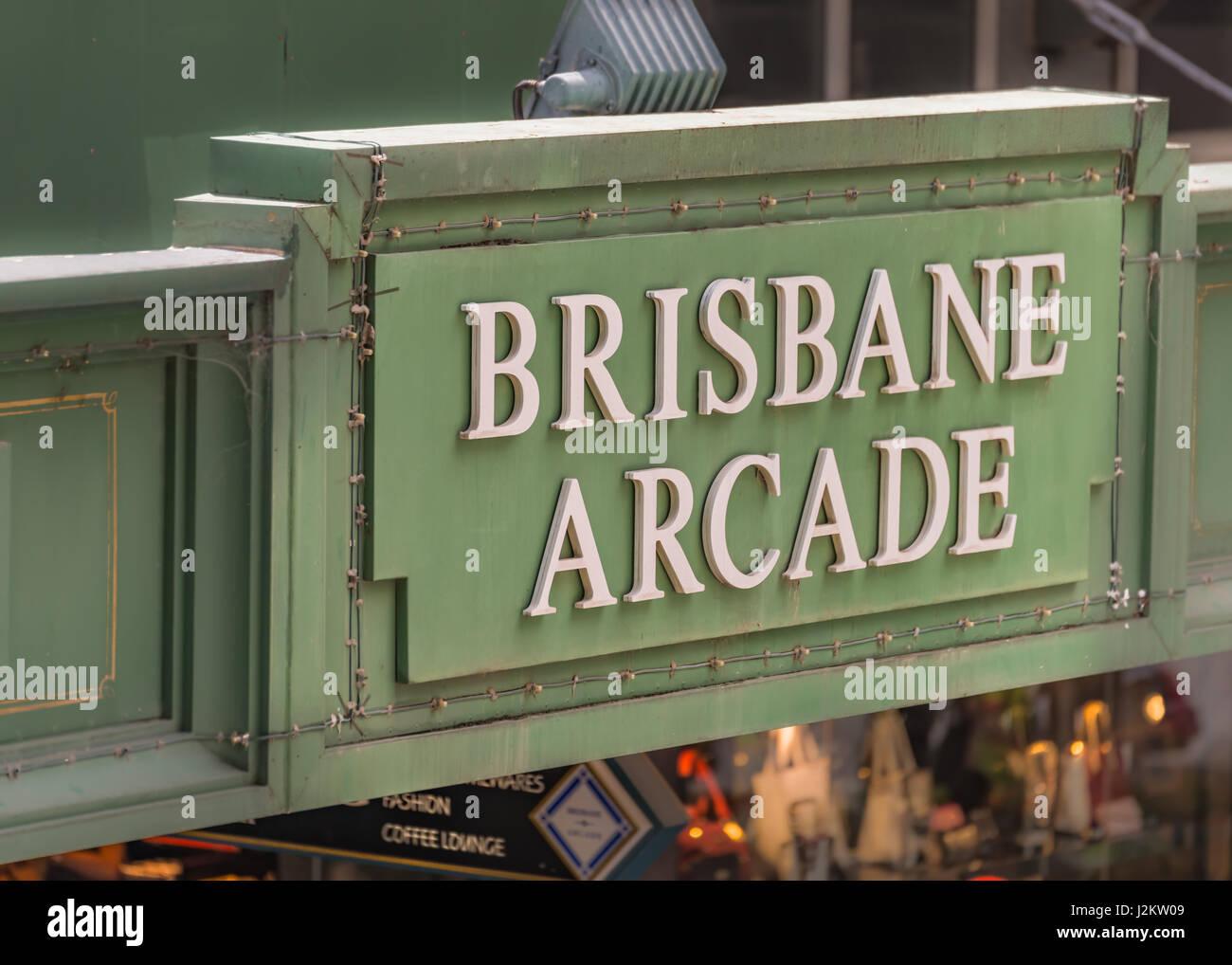 Brisbane Arcade in Brisbane CBD, Queensland, Australia - Stock Image
