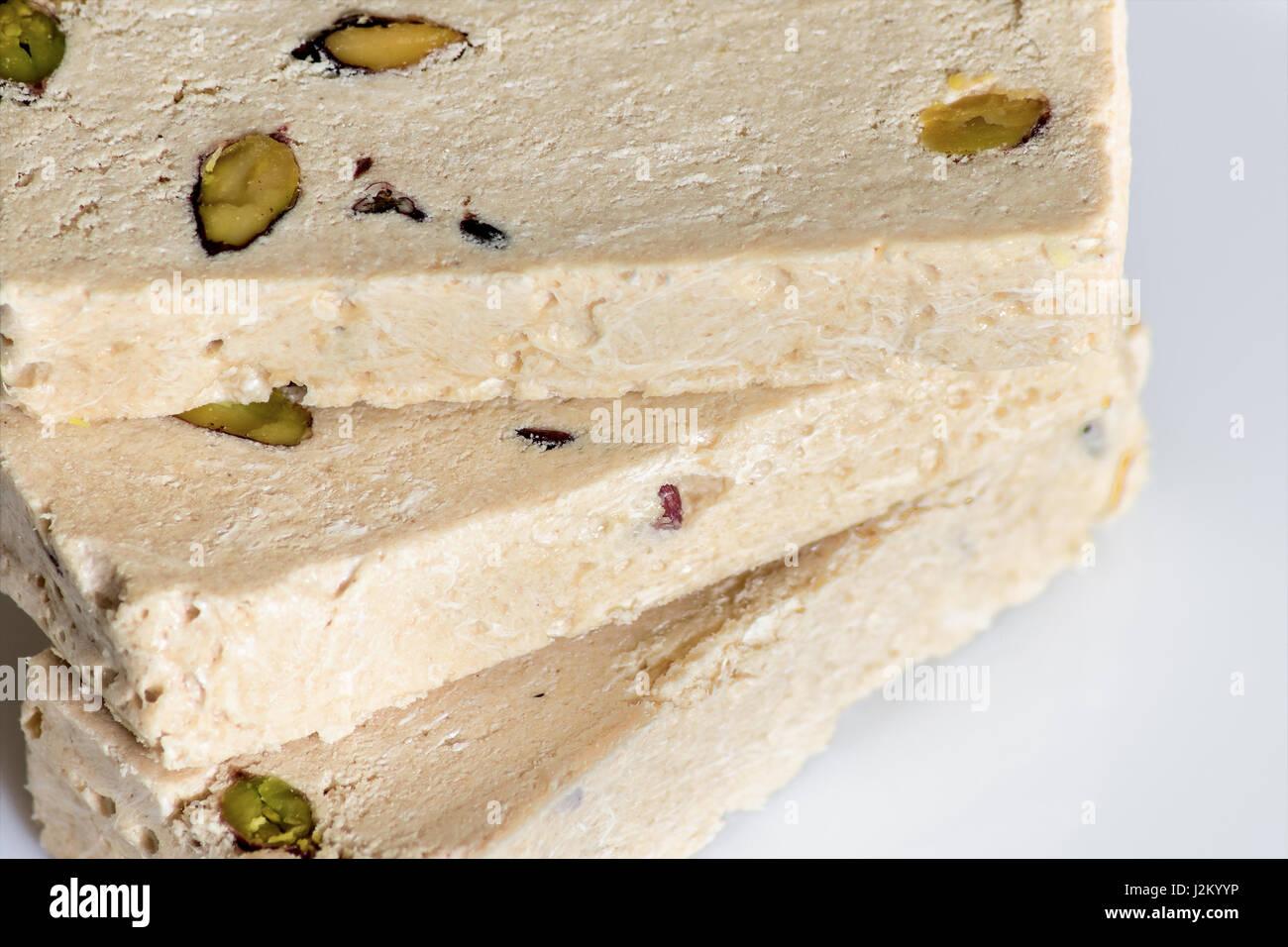 Halva with pistachio - Stock Image
