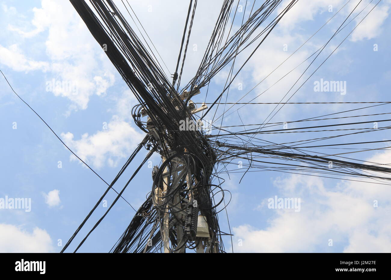 Telephone Pole Wire Stock Photos Images How To A Electric In Vietnam Image