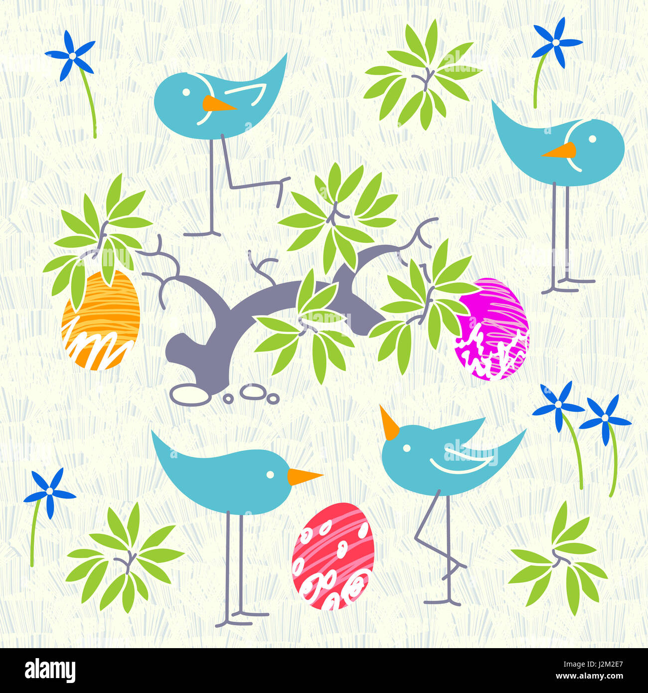Cute birds baby shower invitation card design. Layout template Stock ...