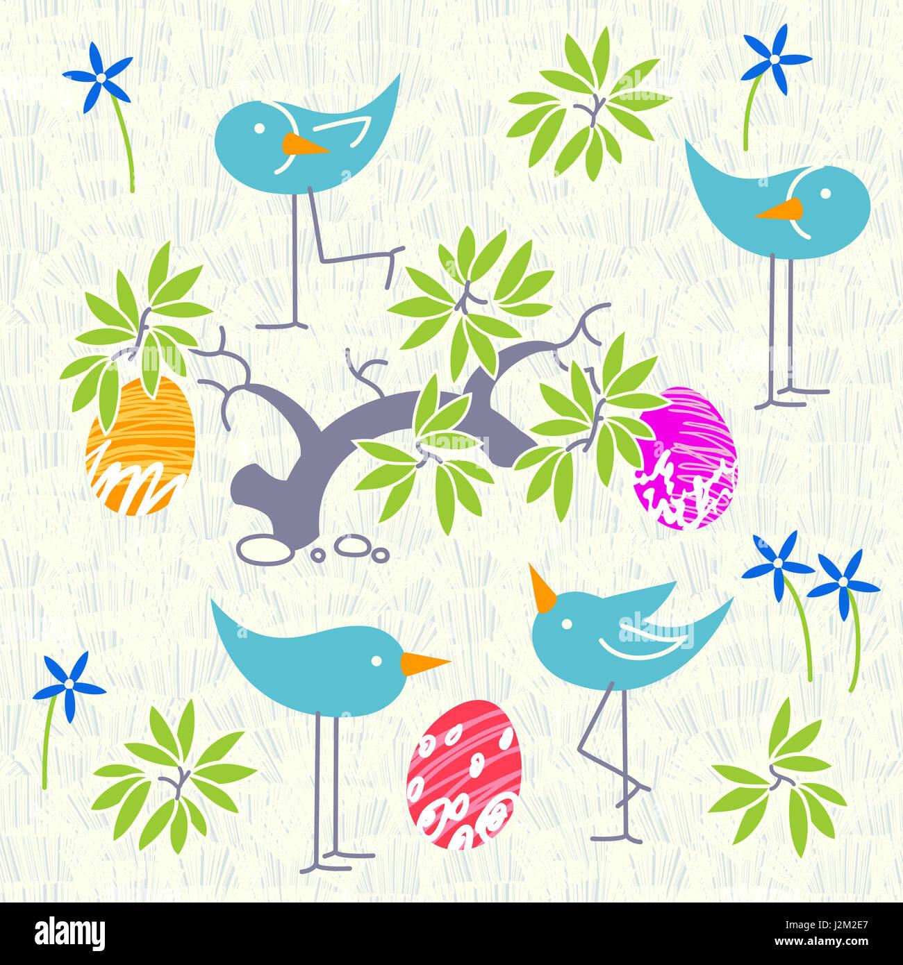 Cute Birds Baby Shower Invitation Card Design Layout
